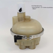 "6 port Top Feed 1-1/2"" T-Valve w/ Quickstop, A & A (540357)"