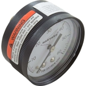 "Pressure Gauge (1/4"") Back Mount (0-60 Psi)Plastic"