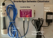 SmarterSpa Hot Tub & Spa Saltwater Chlorinator w/ Cl Detection,