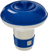 "Floating chlorinator-Spa (1"" Tablets) Blue & White"